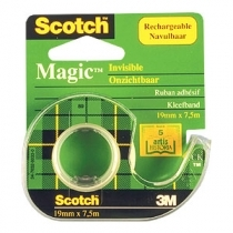 LĪMLENTE SCOTCH MAGIC TAPE 810 19mm x 7.5m AR TURĒTĀJU(3M81975)