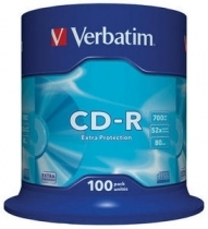 KOMPAKTDISKS VERBATIM CD-R 700Mb/80min 52x Extra Protection 100pack (VER43411)